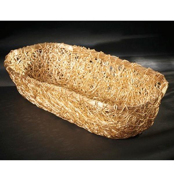 13789 Gilded Loaf Basket (Pack Of 4)