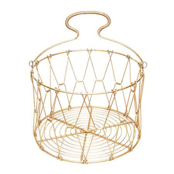 Gilded Iron Basket, Pack Of 6 15102 By India Handicrafts