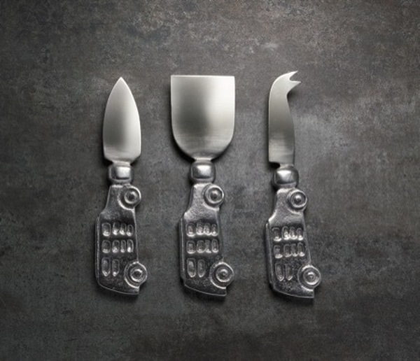 Car Cheese Knives Set, Set Of 3, Pack Of 4 15141 By India Handicrafts