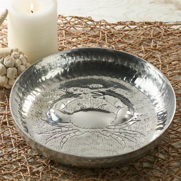 Aluminum Ham Round Crab Plate, Pack Of 4 15192 By India Handicrafts
