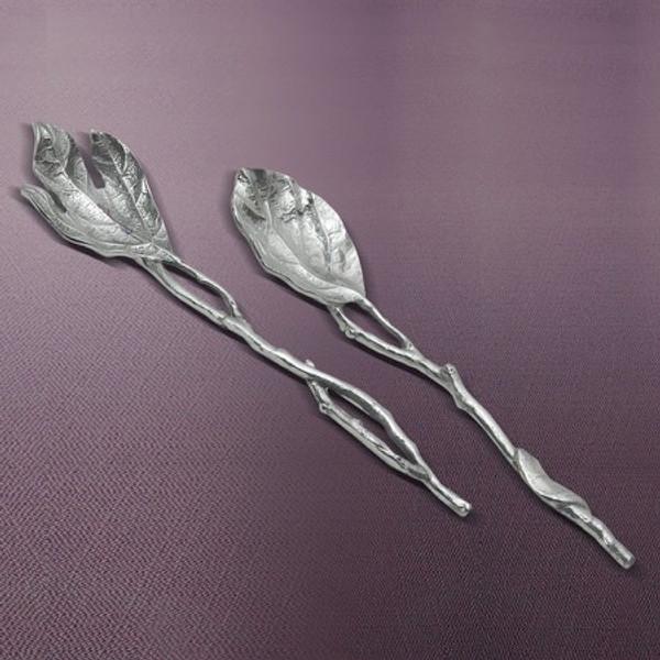 Aluminum Leaf Server, Set Of 2, Pack Of 4 15209 By India Handicrafts