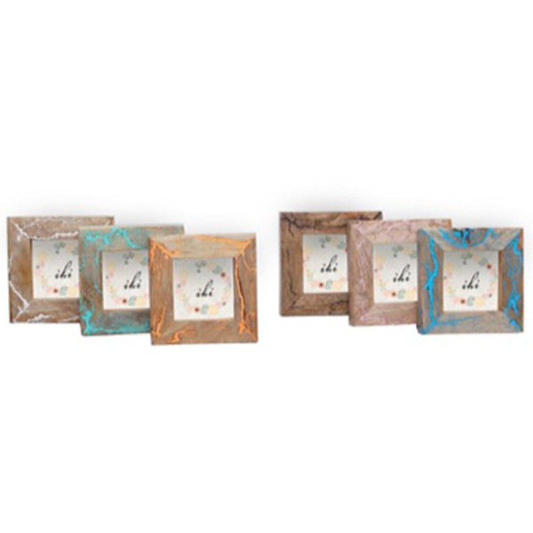Colour Wood Photo Frames Assorted 6, Pack Of 12 15434