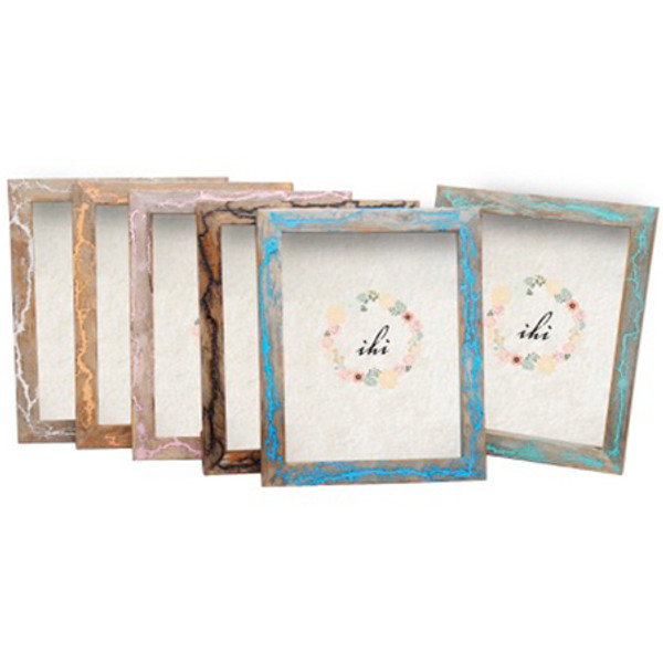 Colour Wood Photo Frames Assorted 6, Pack Of 6 15435
