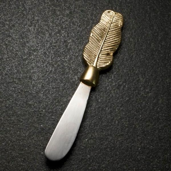 Aluminum Gilded Leaf Spreader, Pack Of 12 16036 By India Handicrafts