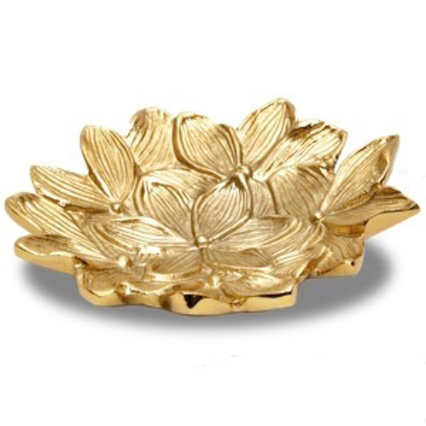 Gilded Flower Bowl, Pack Of 3 16051 By India Handicrafts