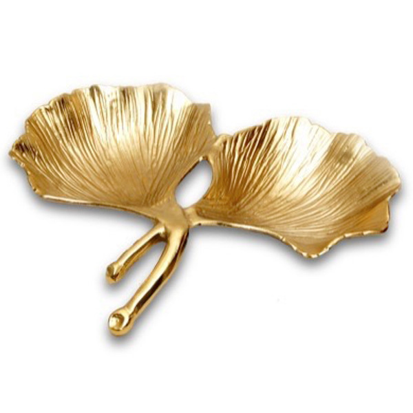 Gilded 2 Sec Leaf Bowl, Pack Of 2 16058 By India Handicrafts