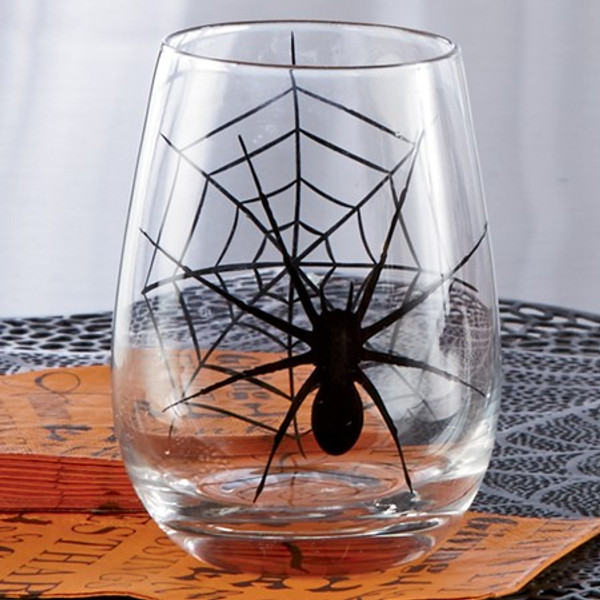 671120 Black Spider Glass Cup (Pack Of 4)