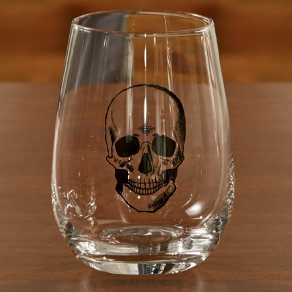 671121 Black Skull Glass Cup (Pack Of 6)