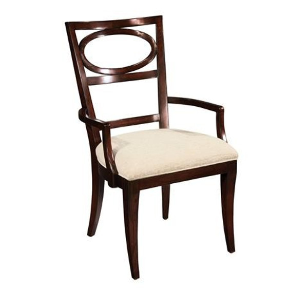 23124 Hekman Central Park Oval Back Arm Chair 2-3124