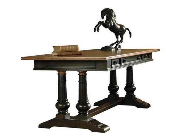 72340 Hekman 7-2340 Trestle Desk Rubbed Onyx from Tuscan Estates