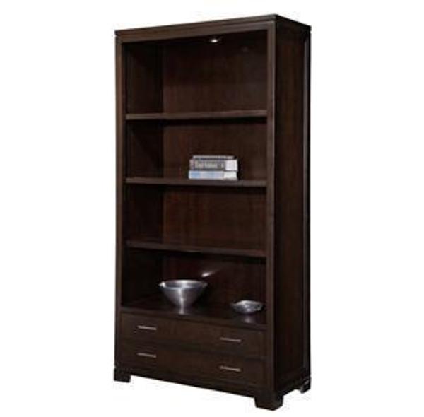79184 Hekman Executive Bookcase In Mocha Finish