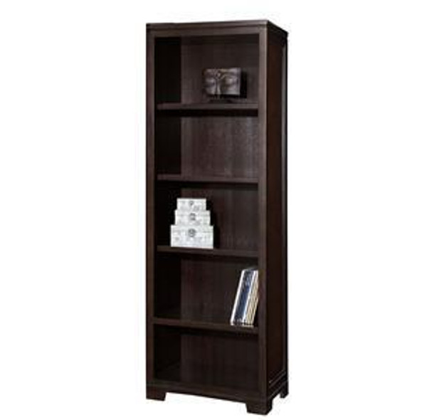 79185 Hekman Narrow Bookcase In Mocha Finish