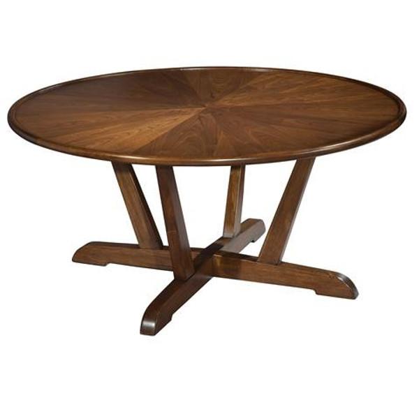 951302MW Hekman Mid Century Modern Round Coffee Table