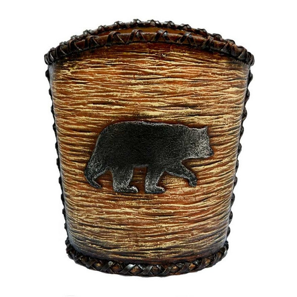 WB3110 Rustic Bear Waste Basket - by HiEnd Accents