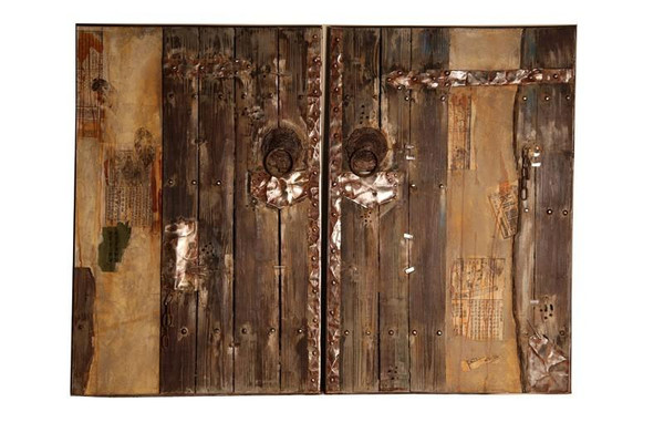 ART121FA004 Old World Door Art-Available Left & Right Side