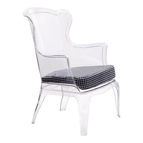 "Homeroots 22.4"" X 21.3"" X 3.9"" Black Vision Polyester Cushion 248935"