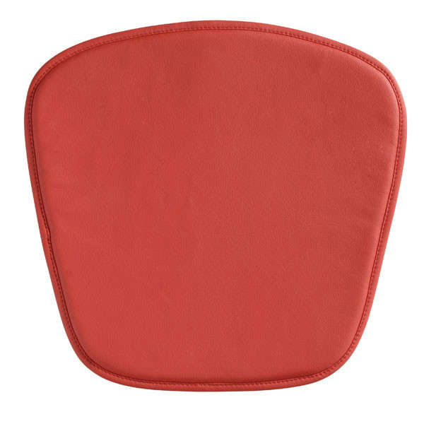 """Homeroots 17"""" X 17"""" X 0.5"""" Red Leatherette Wire Mesh Chair Cushion 248943"""