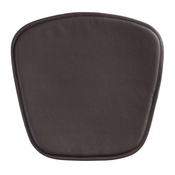 """Homeroots 17"""" X 17"""" X 0.5"""" Espresso Leatherette Wire Mesh Cushion Chair 248947"""