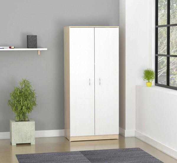 Homeroots 70.9 White Solid Composite Wood Armoire 249844