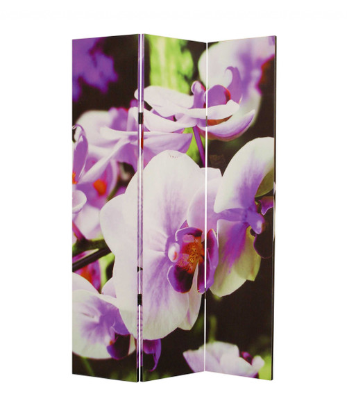 """Homeroots 1"""" X 48"""" X 72"""" Multi-Color, Wood, Canvas Orchid - Screen 274614"""