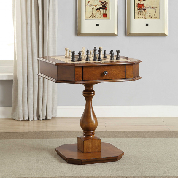 """Homeroots 28"""" X 28"""" X 31"""" Cherry Mdf Game Table 286318"""