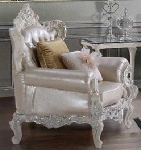 Homey Design Victorian Beige Chair - Hd-13009 HD-13009-CHAIR