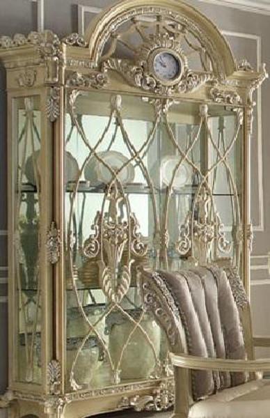 Homey Design Victorian Buttermilk Curio - HD-5800-CURIO