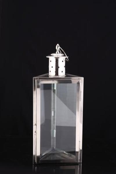H-1029 Horizon 3 - Sided Candle Lantern Medium