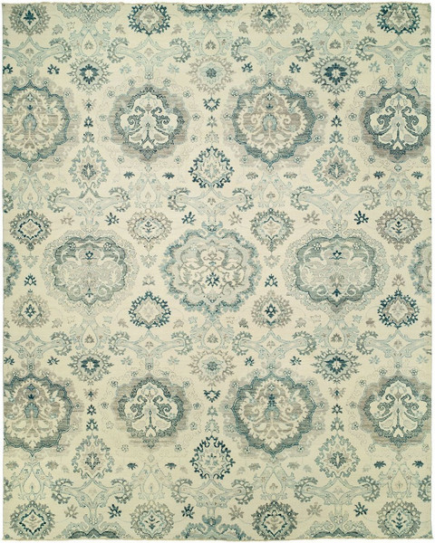 11108 Harounian Elegance ELE-1 White Hand Knotted Wool Rug - 10' X 14'