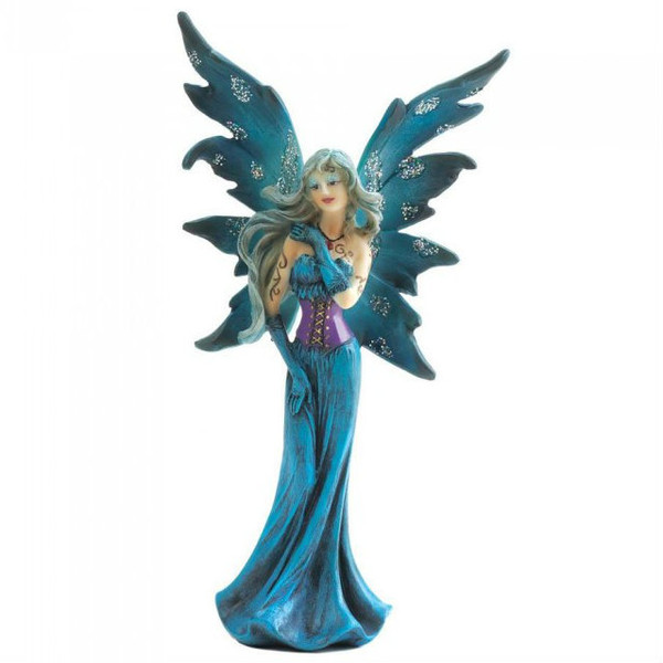 Turquoise Gothic Fairy Figurine 10018627 By AE Wholesale