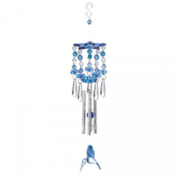 Blue Hummingbird Acrylic And Metal Windchimes 10018837 By AE Wholesale