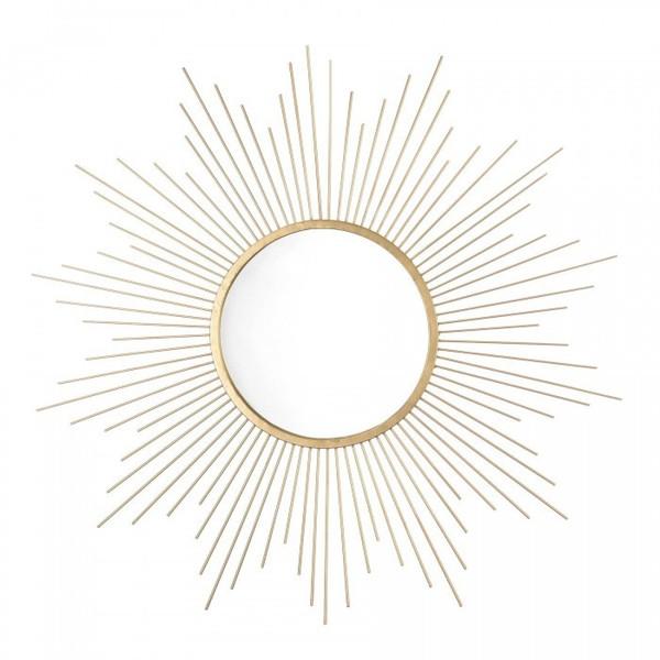 25-Inch Golden Sunburst Wall Mirror 10018890 By AE Wholesale