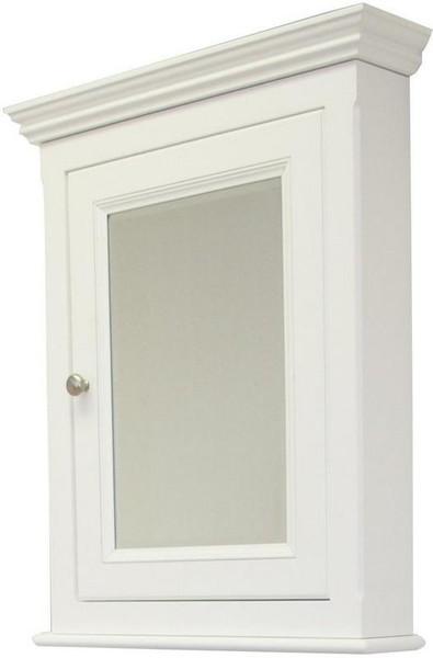 Perri Rectangle Birch Wood-Veneer Medicine Cabinet - White AI-258