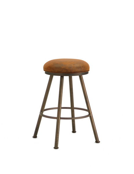 1102330 Alexander Backless Bar Stool - Inca/Bronze/Mayflower Cocoa