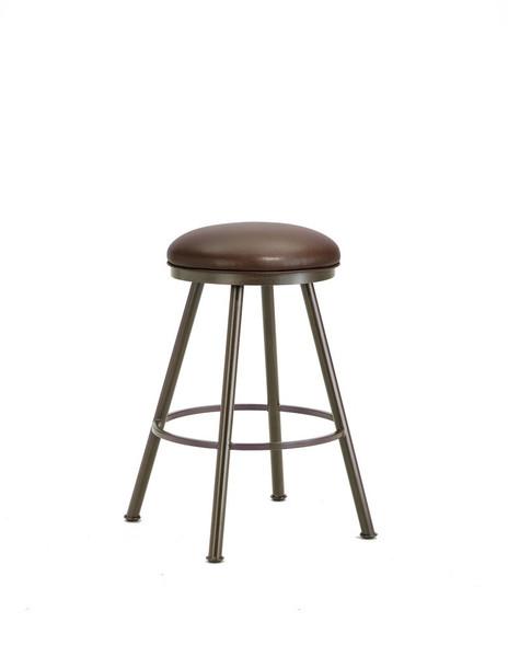 1102430 Alexander Backless Bar Stool - Rust/Ford Brown