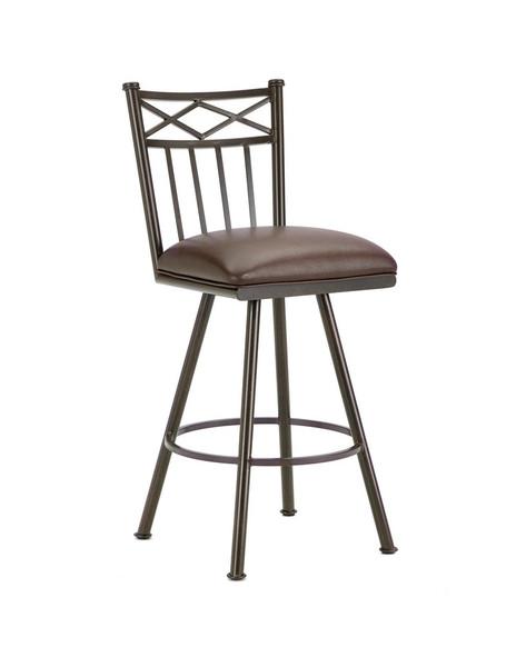 1103430 Alexander Swivel Bar Stool - Rust/Ford Brown