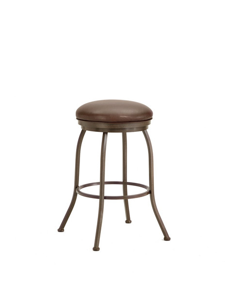 2002430 Fiesole Backless Bar Stool - Rust/Ford Brown
