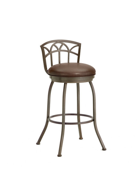 2003426 Fiesole Low Back Counter Stool - Rust/Ford Brown