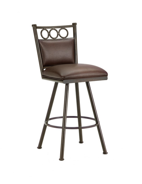 3603430 Waterson Swivel Bar Stool - Rust/Ford Brown