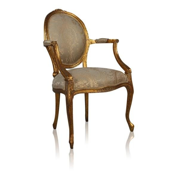 11414NF9 Vintage Cameo Arm Chair