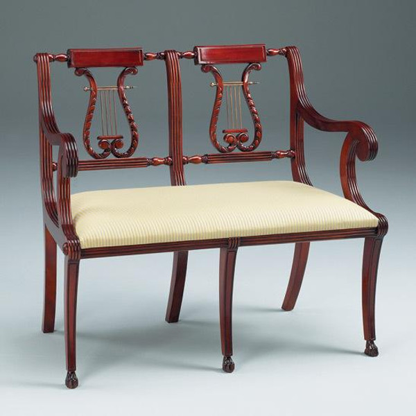 11498 Vintage Lyre Two-Seater In Wooden Brown Finish