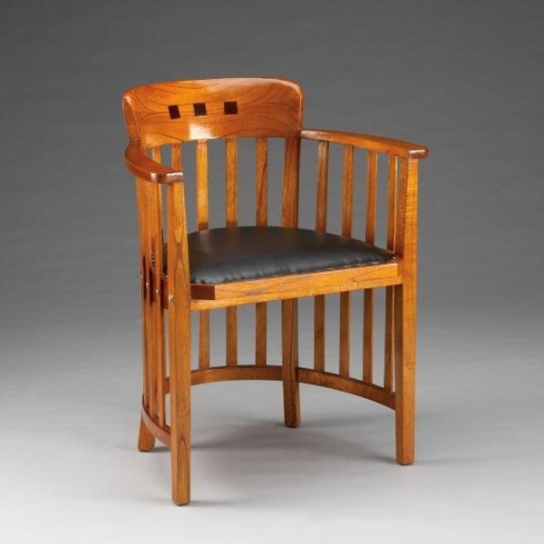 32220 Vintage Dining Chair In Walnut Finish