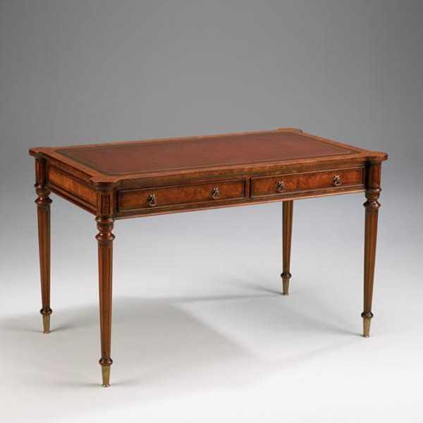 33151 Vintage English Writing Table In Brown Finish