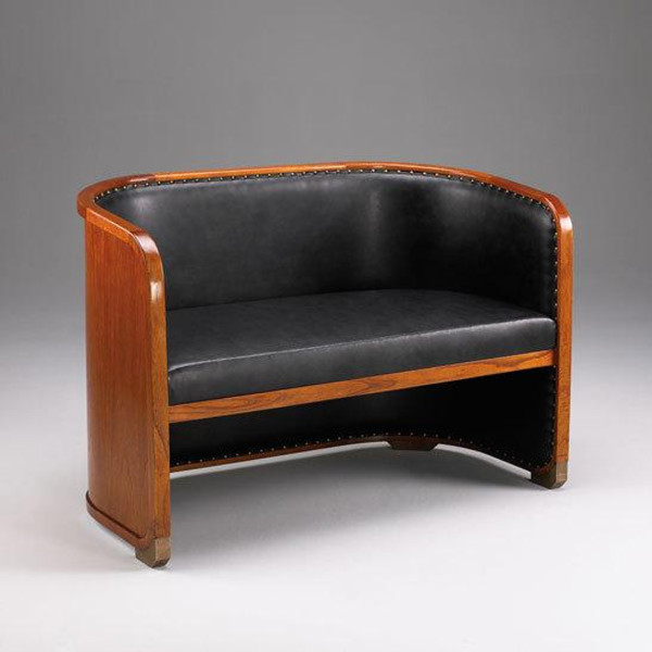 33282 Vintage Bench In Black & Brown Finish