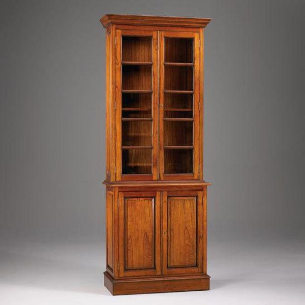 33311 Vintage Rectangular Bookcase 2 Piece Small In Walnut Finish