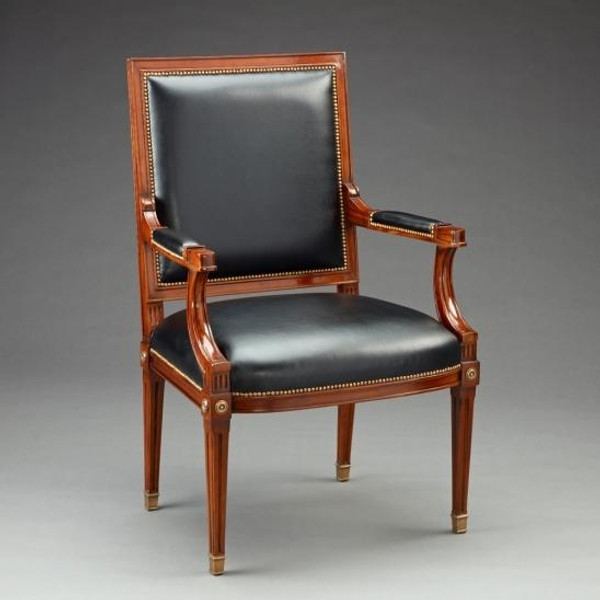 33439 Vintage Felix Arm Chair In Brown & Black Finish