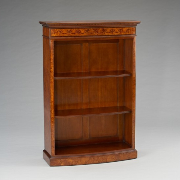 33477/130 Vintage Bow Front Bookcase Small