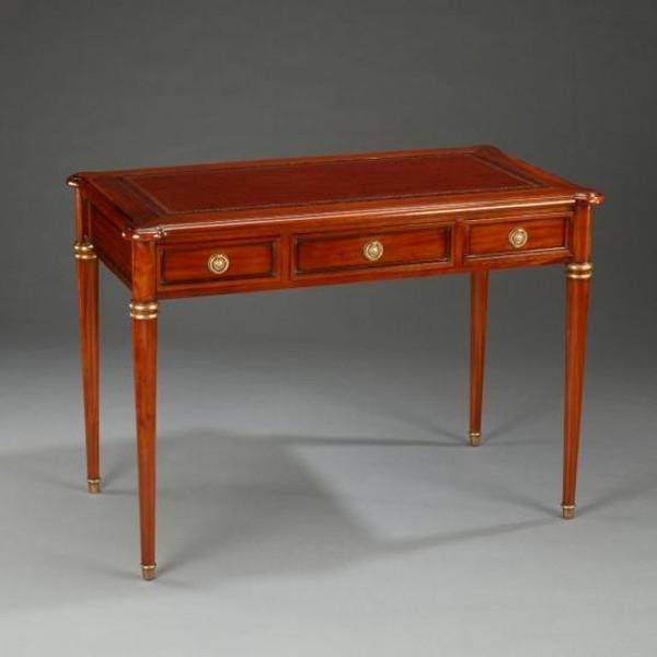 33509 Vintage Rectangular Directoire Writing Desk In Walnut Finish