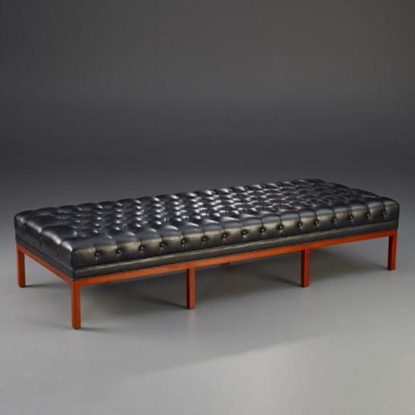 33623 Vintage Rectangular Bench Amsterdam In Black & Brown Finish
