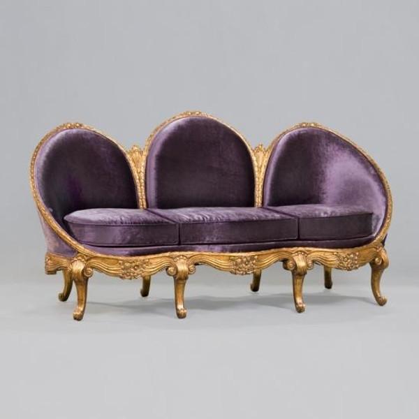 33726NF9 Vintage Rafael Sofa In Purple Finish